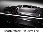 grey fast sports car in... | Shutterstock . vector #450095170