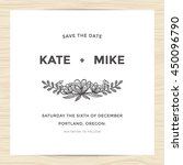 save the date  wedding... | Shutterstock .eps vector #450096790