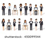 group of diverse working people ... | Shutterstock .eps vector #450099544