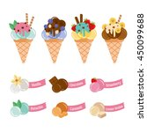 collection with delicious ice... | Shutterstock .eps vector #450099688