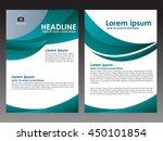 vector green brochure flyer...   Shutterstock .eps vector #450101854