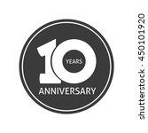 10 years anniversary sticker... | Shutterstock .eps vector #450101920