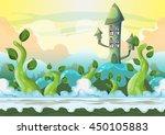 cartoon vector heaven landscape ... | Shutterstock .eps vector #450105883