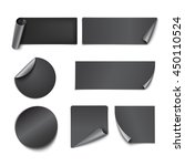 set of black paper stickers on... | Shutterstock .eps vector #450110524
