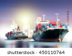 logistics and transportation of ... | Shutterstock . vector #450110764