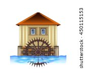 old water mill isolated on... | Shutterstock .eps vector #450115153