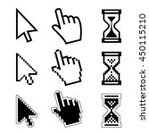 vector icon hand  cursor and... | Shutterstock .eps vector #450115210