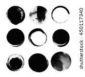 set of empty scribble circles ... | Shutterstock .eps vector #450117340