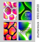 fluid colors backgrounds set.... | Shutterstock .eps vector #450118420