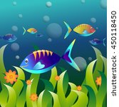 vector aquarium and colorful...