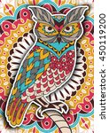 printable coloring book page... | Shutterstock .eps vector #450119200