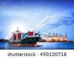 logistics and transportation of ... | Shutterstock . vector #450120718