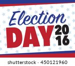 red white and blue election day ... | Shutterstock .eps vector #450121960