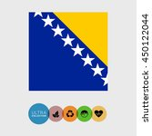 bosnia and herzegovina flag | Shutterstock .eps vector #450122044