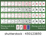 playing cards deck on green... | Shutterstock .eps vector #450123850