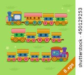toy train color railroad and... | Shutterstock .eps vector #450129253