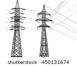 illustration with electric... | Shutterstock .eps vector #450131674