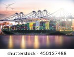 logistics and transportation... | Shutterstock . vector #450137488