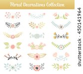 floral combinations hand drawn... | Shutterstock .eps vector #450141964