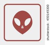 alien head icon. | Shutterstock .eps vector #450145300