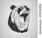 head panda illustration | Shutterstock .eps vector #450146938