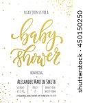 baby shower invitation card... | Shutterstock .eps vector #450150250