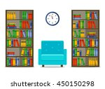 bookcases and armchair ...   Shutterstock .eps vector #450150298