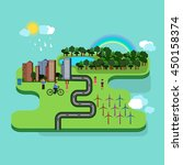 vector graphics green city. | Shutterstock .eps vector #450158374