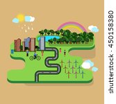 vector graphics green city. | Shutterstock .eps vector #450158380