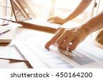 business man analyzing graph... | Shutterstock . vector #450164200