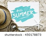 summer chill collection... | Shutterstock . vector #450178873