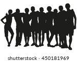 group of people vector... | Shutterstock .eps vector #450181969