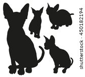 cat sphinx detailed vector... | Shutterstock .eps vector #450182194