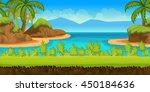 beautiful tropical beach ... | Shutterstock .eps vector #450184636