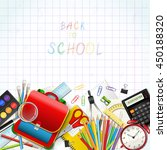 back to school background with...   Shutterstock .eps vector #450188320