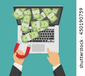 concept of attracting... | Shutterstock .eps vector #450190759