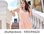 hot summer girl beauty sexy... | Shutterstock . vector #450194623
