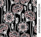seamless pattern with abstract... | Shutterstock .eps vector #450201244