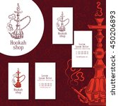 logo for hookah shop. set of... | Shutterstock .eps vector #450206893
