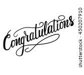 congratulations text template ... | Shutterstock .eps vector #450207910