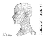 head of the person from a 3d... | Shutterstock .eps vector #450209158