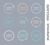 set of handdrawn round frames... | Shutterstock .eps vector #450212650