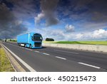 truck transportation on the... | Shutterstock . vector #450215473