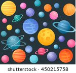fantasy space pattern with...   Shutterstock .eps vector #450215758