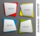 design shape origami vector... | Shutterstock .eps vector #450232759