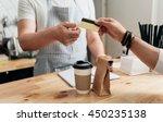 modern cafe business   Shutterstock . vector #450235138