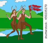 vikings warriors nordic boy and ...   Shutterstock .eps vector #450235270