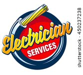 hank electric cable and the... | Shutterstock .eps vector #450237238
