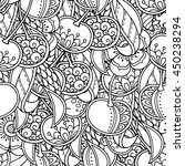 seamless background in doodle... | Shutterstock .eps vector #450238294
