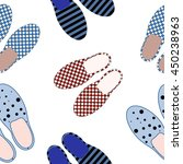 seamless pattern with slippers. ... | Shutterstock .eps vector #450238963